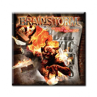 BRAINSTORM - ON THE SPUR OF THE MOMENT. Сувенирный магнит и стикер #5.65.113